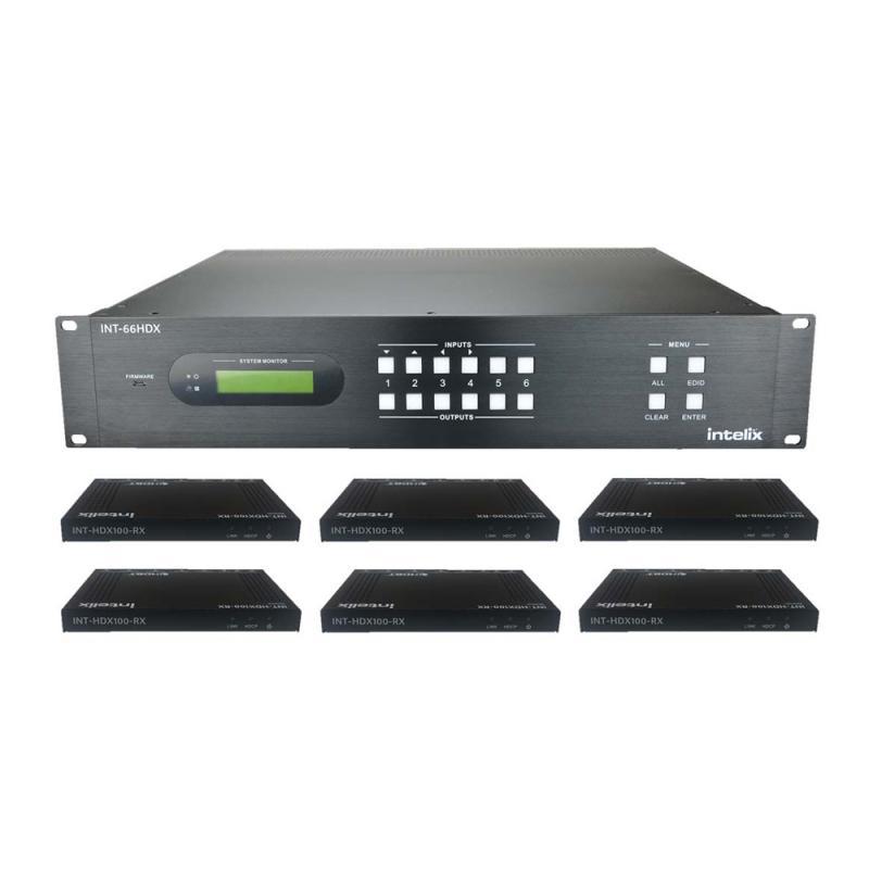 INT-66HDX-KIT, 6x6 HDBaseT matrix Kit + 6 receivers