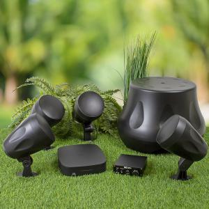 Utomhuspaket för altan, trädgård eller SPA, streaming, fyra högtalare och en subwoofer