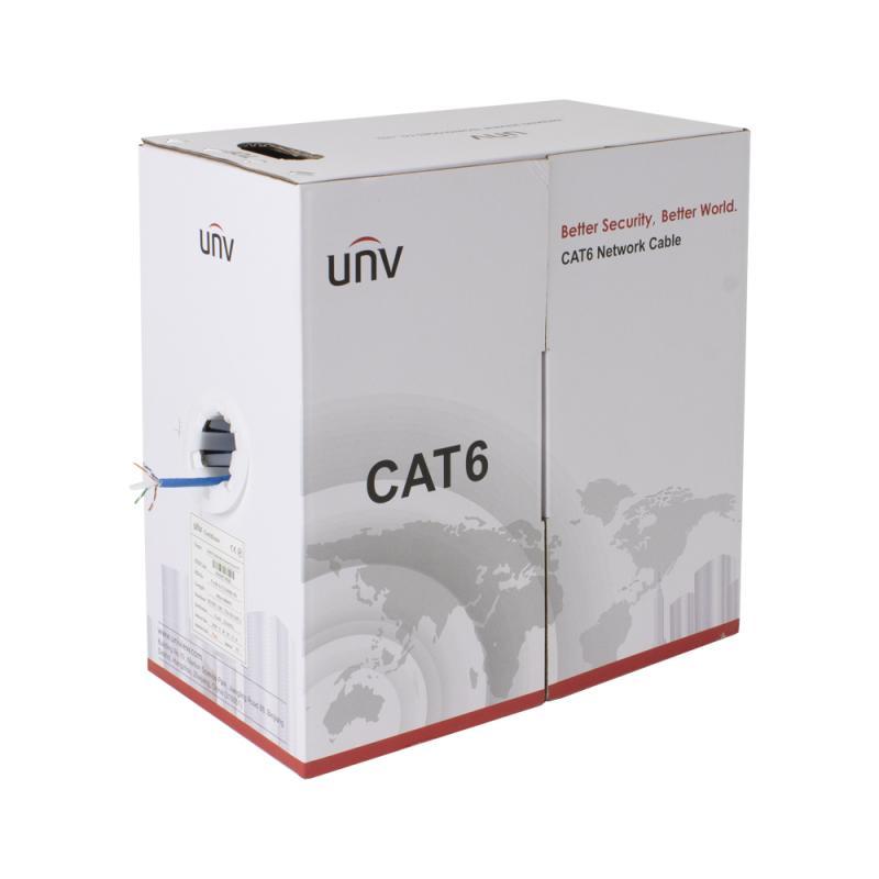 UNV CAB-LC3100B-IN, CAT6 UTP nätvekskabel 305m kartong CPR-klassad