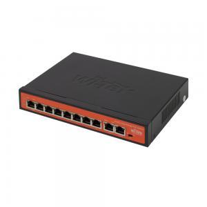 Wi-Tek PS210 CCTV-switch 8 portar 10/100 PoE+ 2x Uplink, extended range