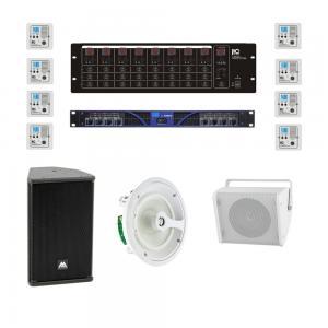 ITC T-8000, Ljud-Matrix med 8st zon-paneler. Slutsteg 8x380W 4ohm