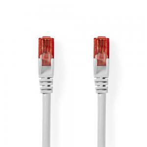 Nätverkskabel 0.5m Cat6 UTP vit