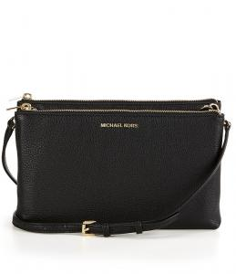 Michael Kors Adele Zip Crossbody Black