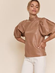 Mos Mosh Cassandra Leather Blouse