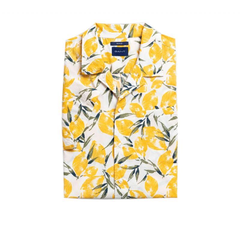 Gant Lemon Kortärmad Skjorta