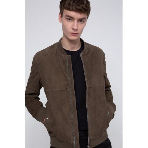 Hugo Bomber Leather Jacket
