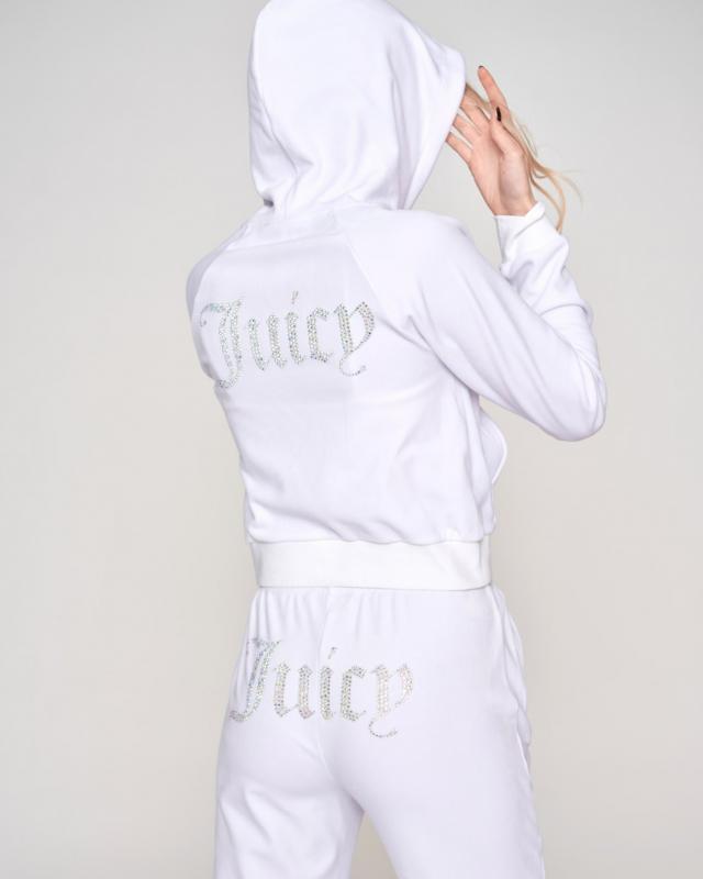 Juicy Couture Sally Diamante Velour Hoodie