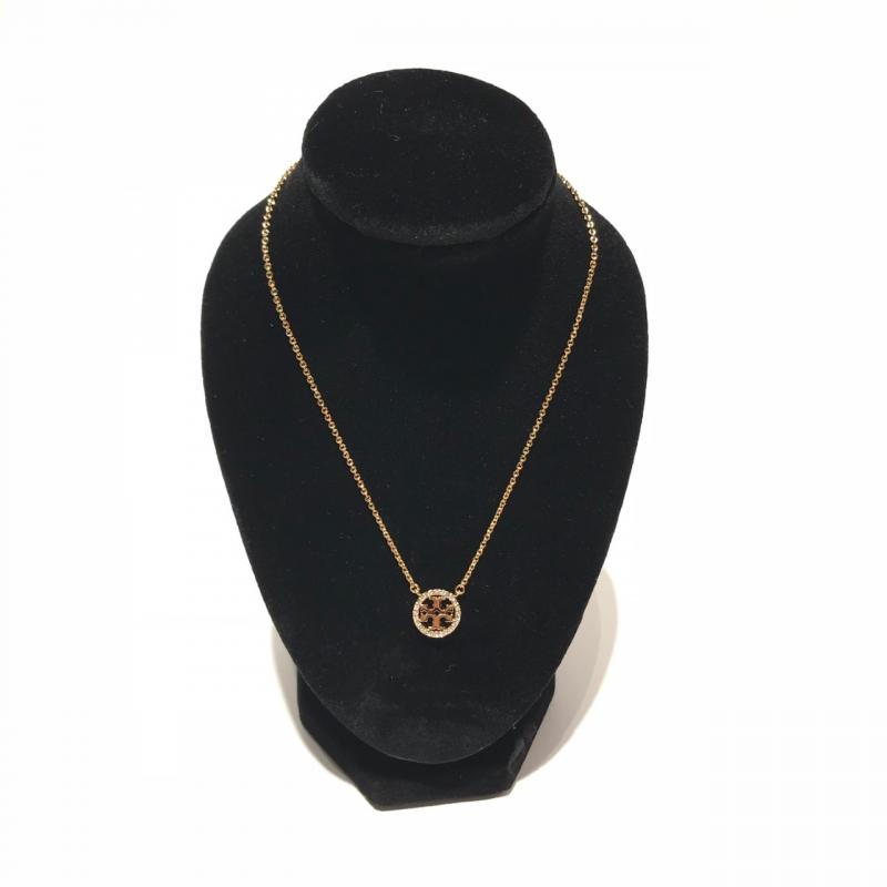 Tory Burch Pavé Logo Necklace