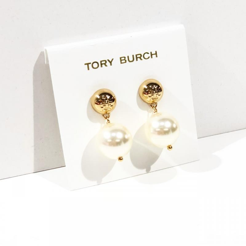 Tory Burch Crystal Pearl Drop Earring