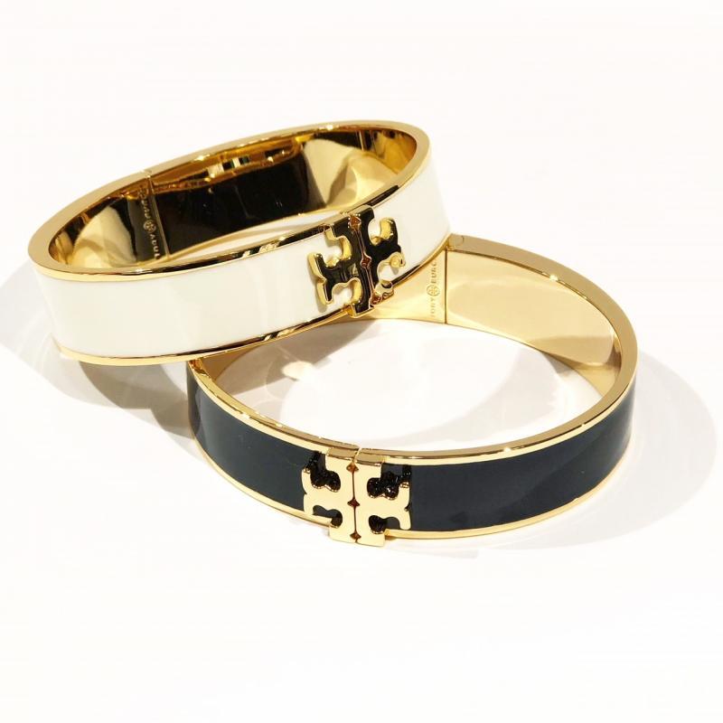Tory Burch Logo Hinged Bracelet