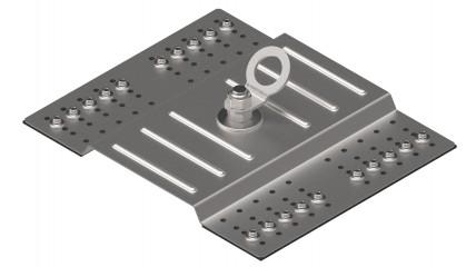 Punto de anclaje para bandeja de cubierta de chapa trapezoidal EN795A