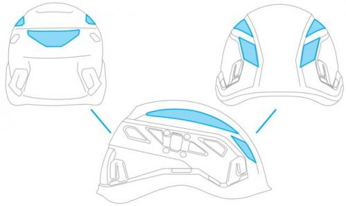 Reflective Stickers (4pcs) for Ares/Ares Air helmets