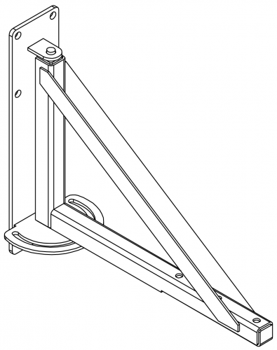 Turnable wall bracket