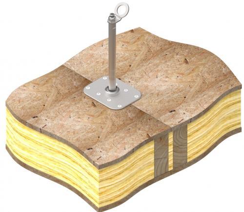 Basfäste för trä + Ankarstolpe