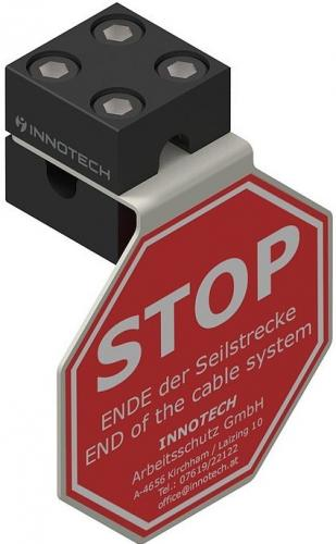 AIO Stop sign for horizontal lifeline systems