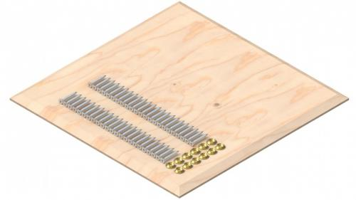 Fastening set AIO-STA-12 on wooden formwork