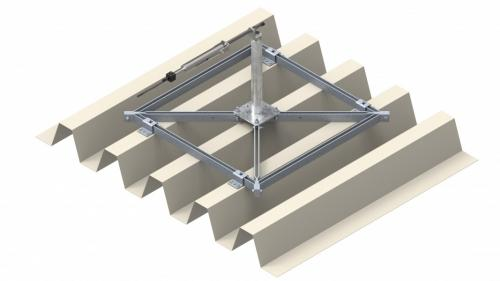 Frame for trapezoidal supporting sheet