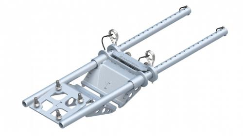 Base bracket, clamping console for steel beams