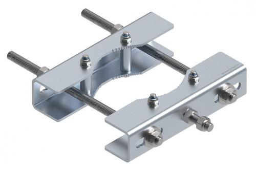 Fastening set for pipework structures 120-220 mm