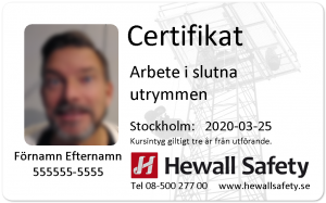 Extra certificate