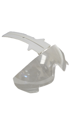 Integrated visor for TR2000 -Clear glass