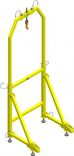 XTirpa Ankerpunkt for pole hoist system