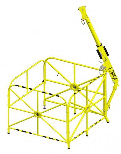XTirpa Portabelt Davitsystem med rekkverk 1320mm