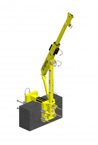 XTirpa 610mm Davitsystem med klämfäste