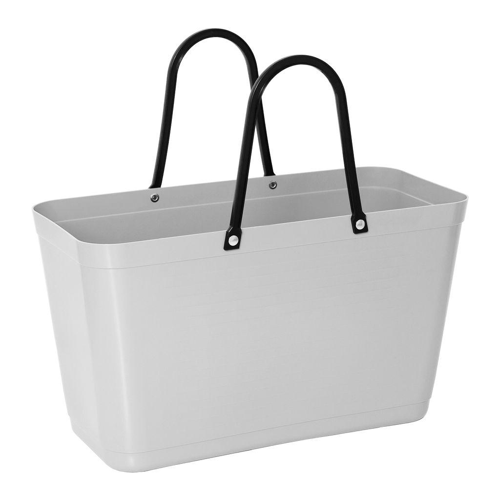 Hinza bag Large Light Grey - Green Plastic