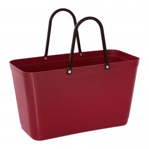 Hinza bag Large Maroon - Green Plastic
