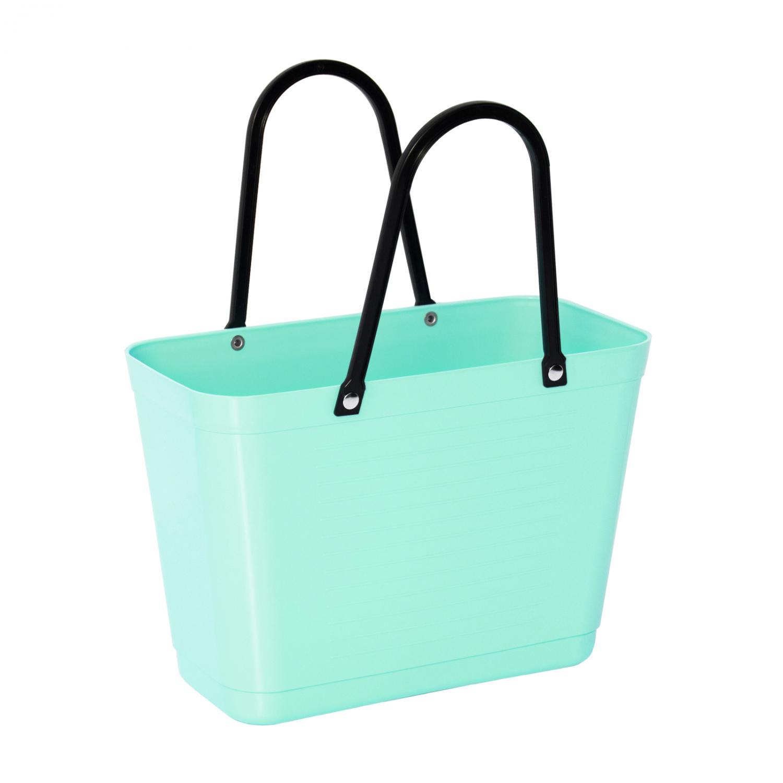 Väska Hinza Liten Mint får plats i cykelkorgen