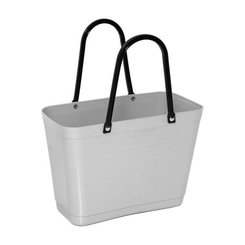 Hinza bag Small Light Grey - Green Plastic
