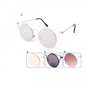Runda solglasögon med ram