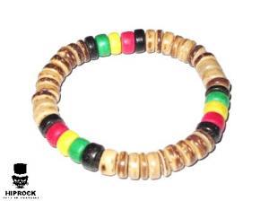 Rasta armband - Ljusbruna Pärlor