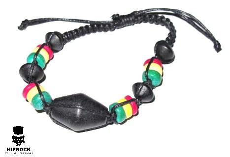 Rasta armband - Svarta pärlor