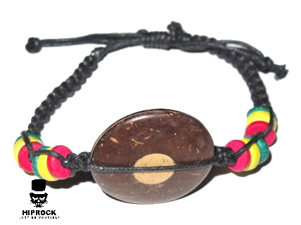 Rasta armband - Brun Cirkel