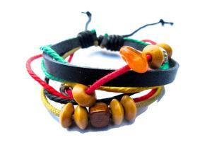 Rasta armband med sten och pärlor