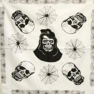 Bandana - Dödskallar och spindelnät