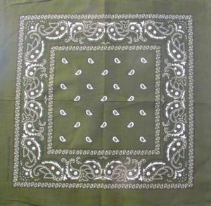 Bandana scarf Paisley mörkgrön