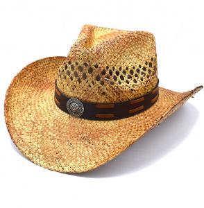 Cowboyhatt Medaljong och brun rem - handgjord hatt