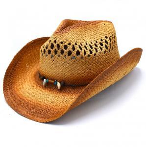 Cowboyhatt pärlor och snäckor - handgjord hatt