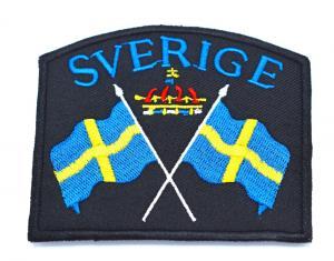 SVERIGE FLAGGOR TYGMÄRKE - STOR
