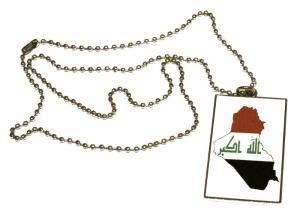 IRAK KARTA FLAGGA - HALSBAND