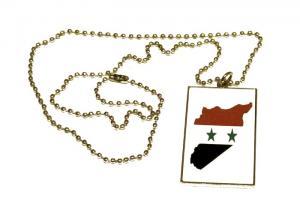 SYRIEN KARTA FLAGGA - HALSBAND