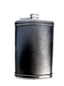 Plunta svart läder - rostfritt stål