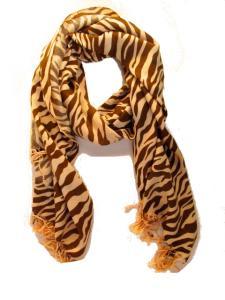 Halsduk - Zebra brun