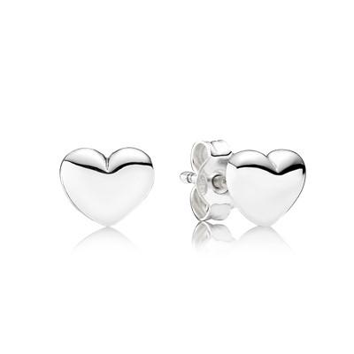 Hjärta Stål Örhängen