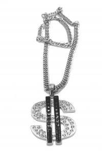 DOLLAR HIPHOP NECKLACE BLACK 093e6476cfd25