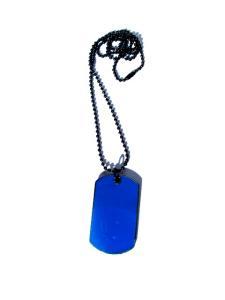 Dog Tag Halsband blå