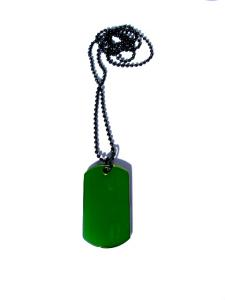 Dog Tag Halsband Grön